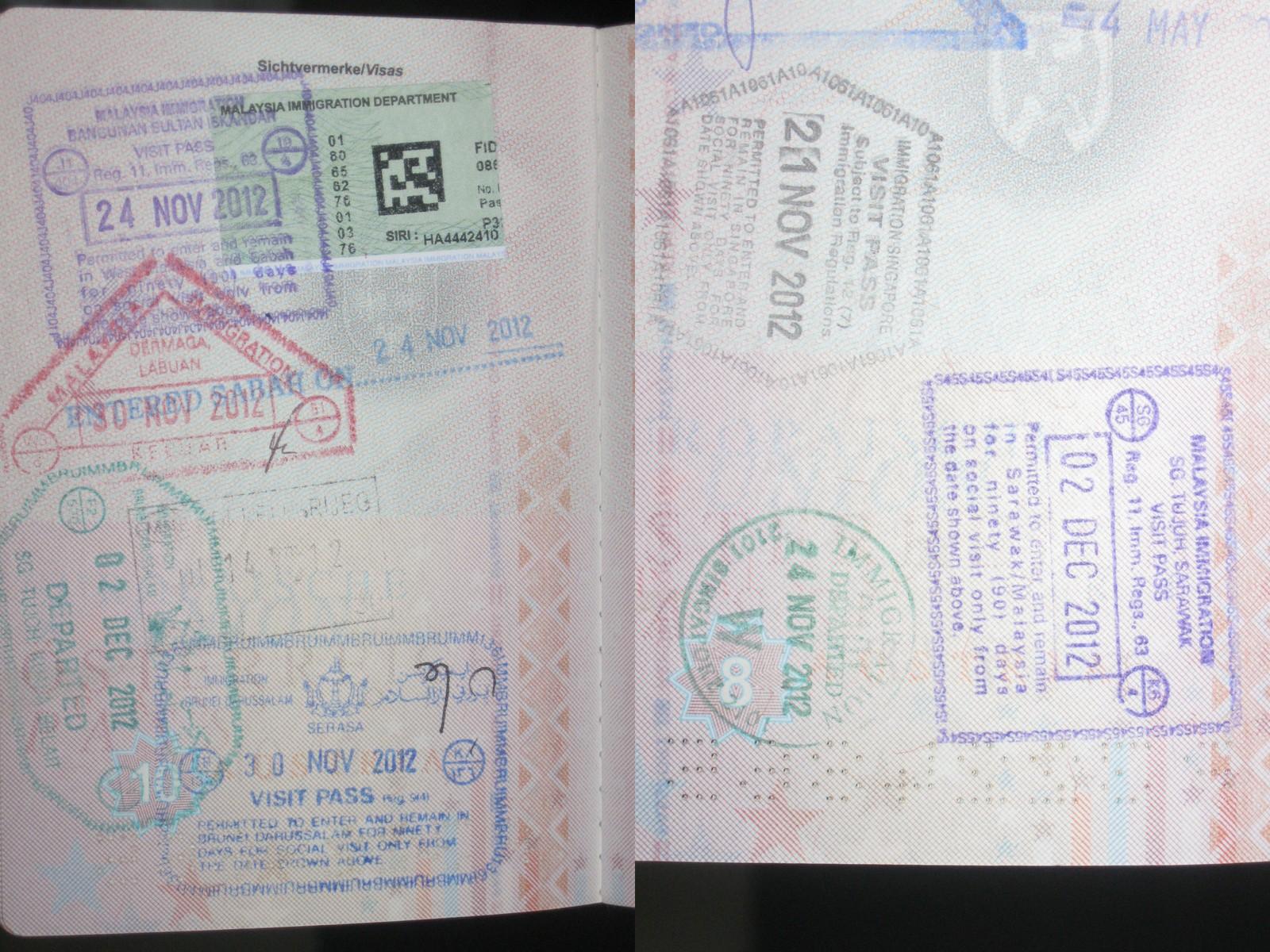 Stempel im Reisepass