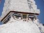 Augen-Stupa am Weg nach Punakha